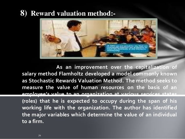 9) Standard Cost Method :- This method envisages establishment of a standard cost per grade of employee, updated every yea...