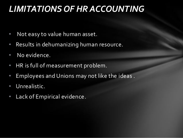 Human resource accounting and audit