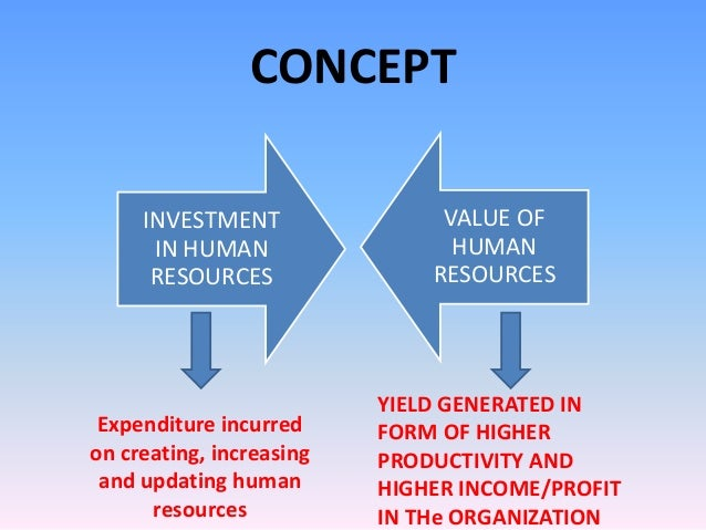 investment and human resource This model can be applied on a broad scale where investments in human capital  are viewed as affecting national and global economic performance or, more.