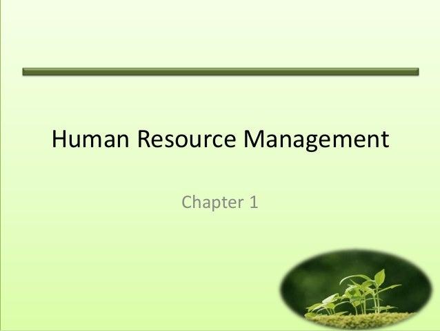 Human Resource Management Chapter 1