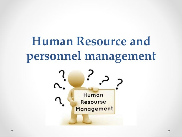 management and sem1 personnel resourcing