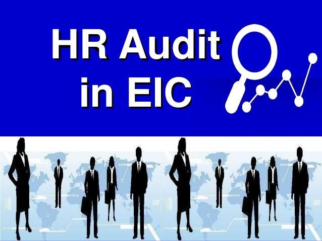HR Audit in EIC