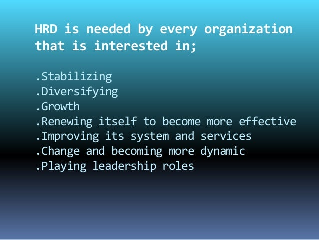 Difference Between HRM and HRD