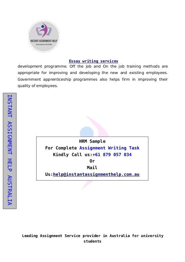assignment australia provider