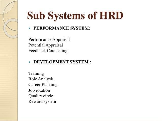 sub system of human resource development