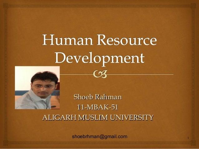 Shoeb Rahman 11-MBAK-51 ALIGARH MUSLIM UNIVERSITY shoebrhman@gmail.com  1