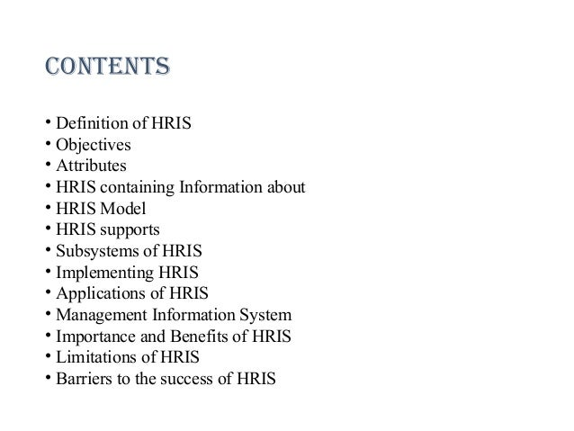 determining hris needs View determining hris needs from hrm 520 at strayer running head: determining hris needs 1 determining hris needs hrm.