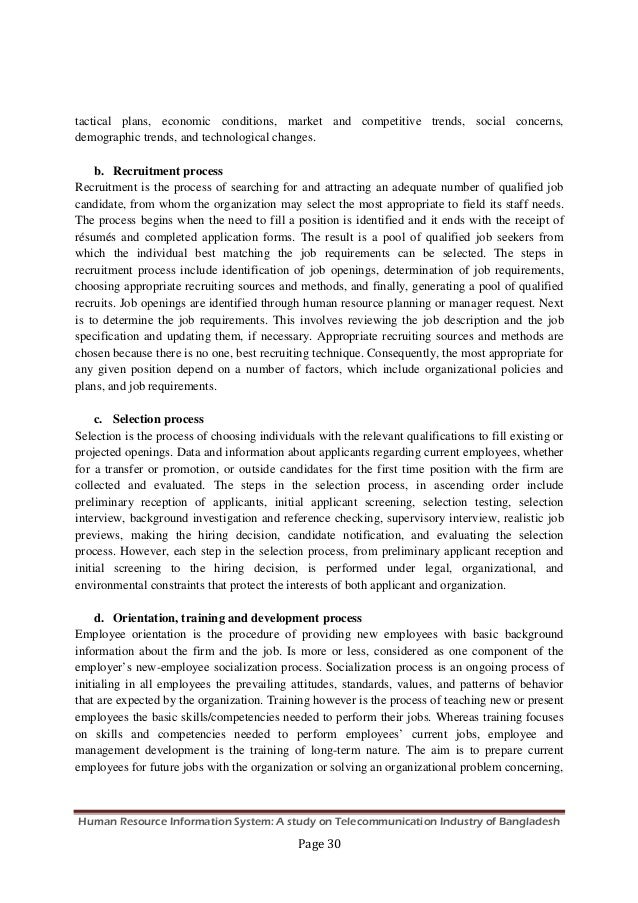 human resource information system a study on telecommunication indus