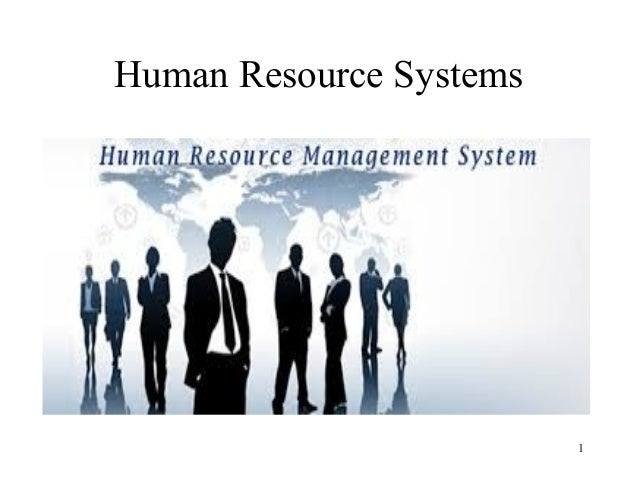 Human Resource Systems 1