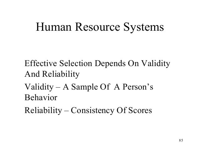 Reliability validity and representative sample in