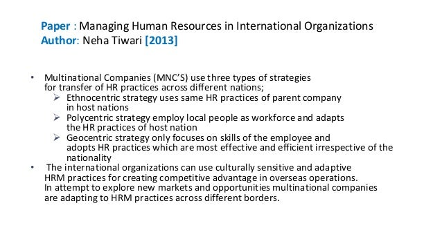 cultural context in hr practices Managing people globally  chapter 2 cultural and institutional context of global  factors influencing transfer of hr practices 71.