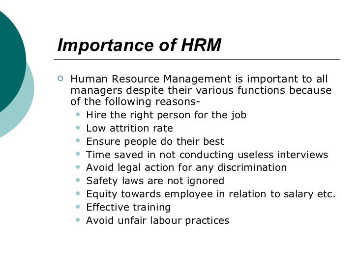 importance of hrm in points