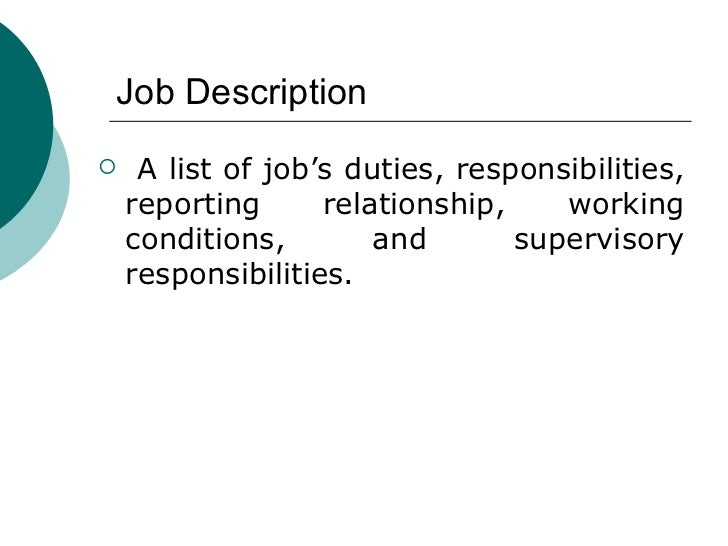 Human Resources Job Description Human Resources Personal
