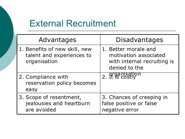 benefits associated with outward recruitment