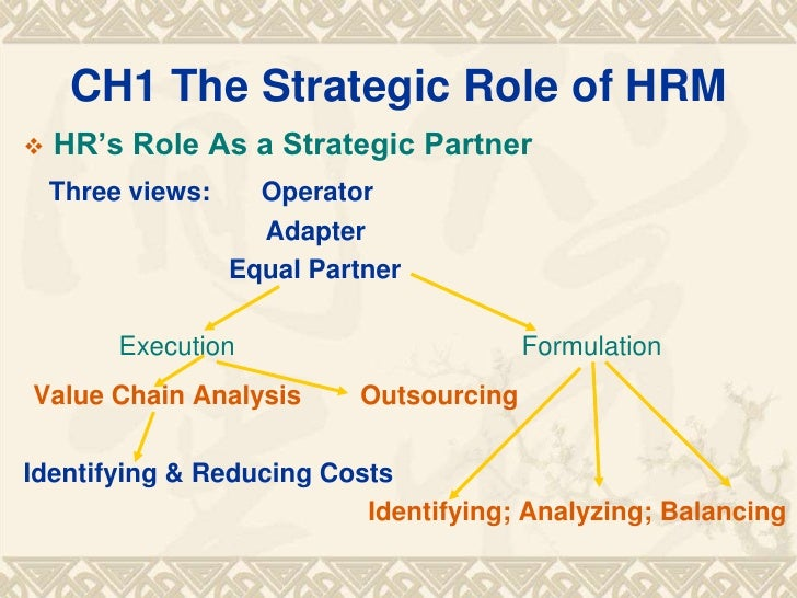 changing role of human resource management in response to trends in globalization Trends in human resource management the purpose of this paper is to describe the changing role of hr management in response to trends in globalization.