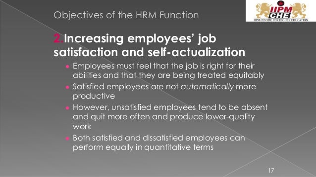 human resource policies and its objectives The purpose of human resource management lies in successful  the hr  strategies, policies and ideas for individual improvement must be.