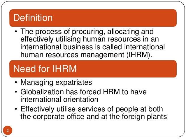 Internationalization of human resource management