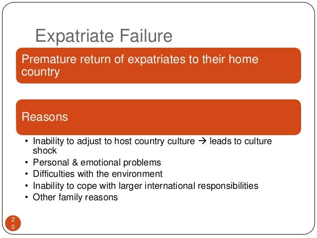 The Cost Of Expatriate Failure Management