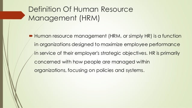 effect utilization of human resource management This research focuses on how social media effects human resource  governing  the use of social networks by human resource managers (gramberg, teicher,.