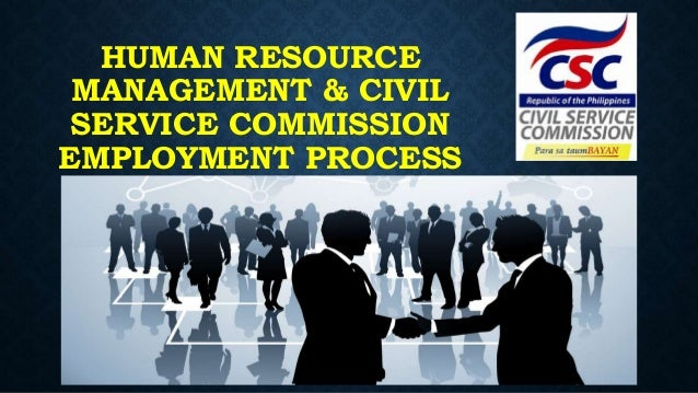 Human resource management and civil service commission ...