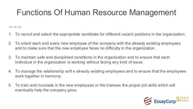human resource management essay conclusion