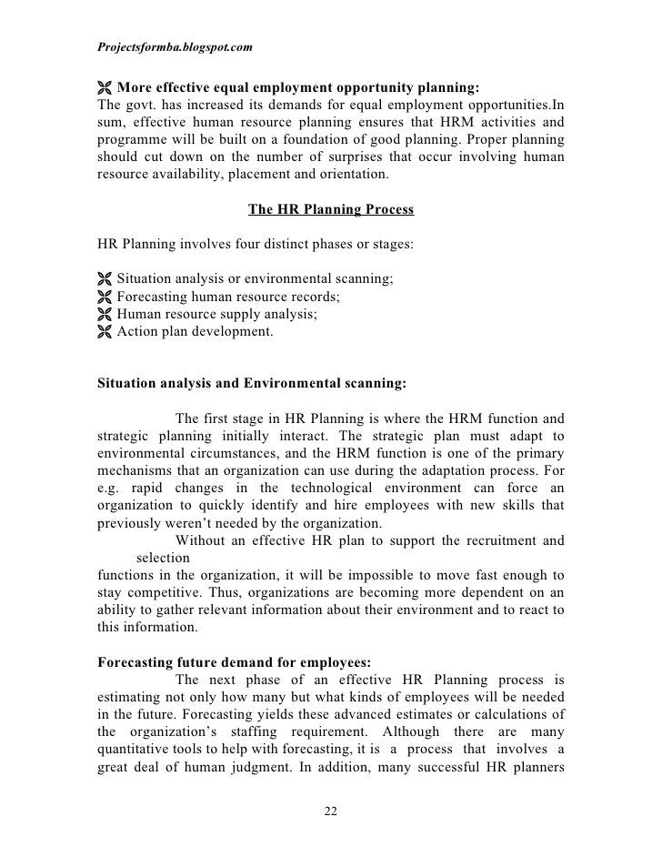 Projectsformba.blogspot.com More effective equal employment opportunity planning:The govt. has increased its demands for ...
