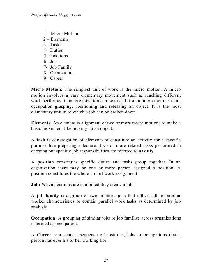 Projectsformba.blogspot.com      1      1 – Micro Motion      2 – Elements      3- Tasks      4- Duties      5- Positions ...