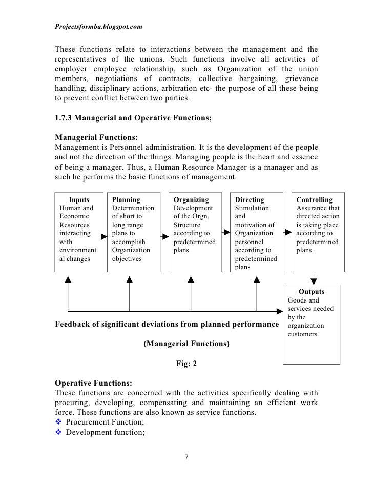 Projectsformba.blogspot.comThese functions relate to interactions between the management and therepresentatives of the uni...