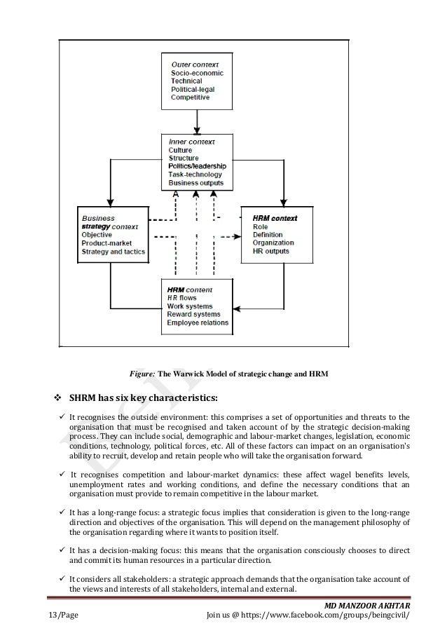Human resource management for const management