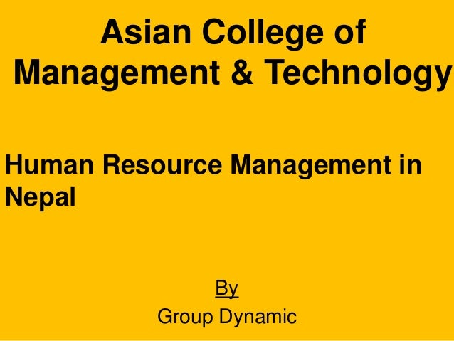 human resource management in nepal pdf