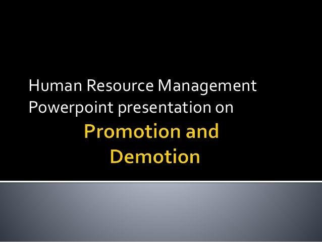 Human Resource Management Powerpoint presentation on