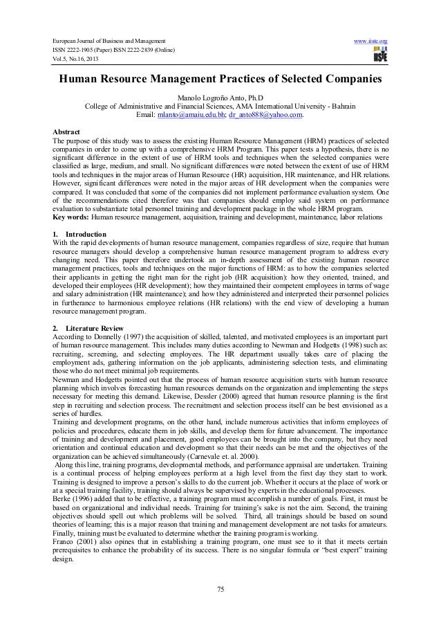 European Journal of Business and Management www.iiste.org ISSN 2222-1905 (Paper) ISSN 2222-2839 (Online) Vol.5, No.16, 201...