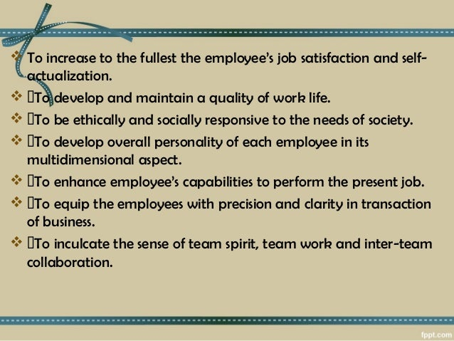To inculcate the sense of team spirit team work and inter team collaboration