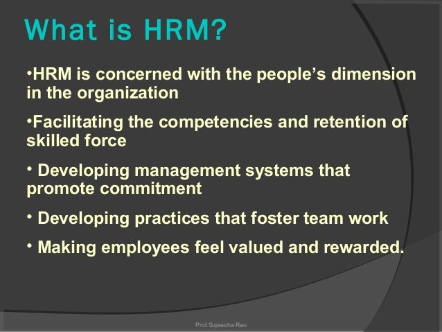 Human Resource Management Meaning Nature Scope