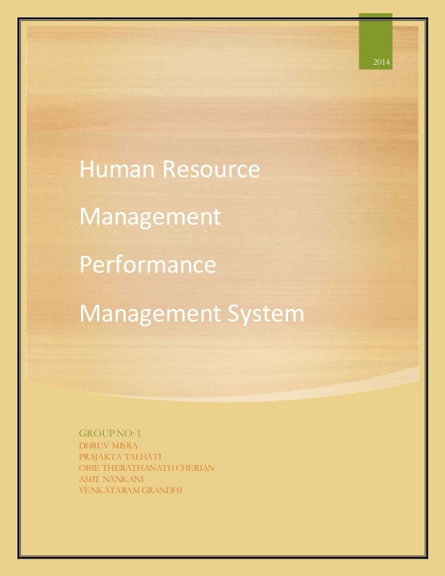 Human Resource Performance Management System