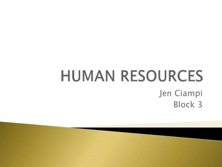 Jen Ciampi     Block 3