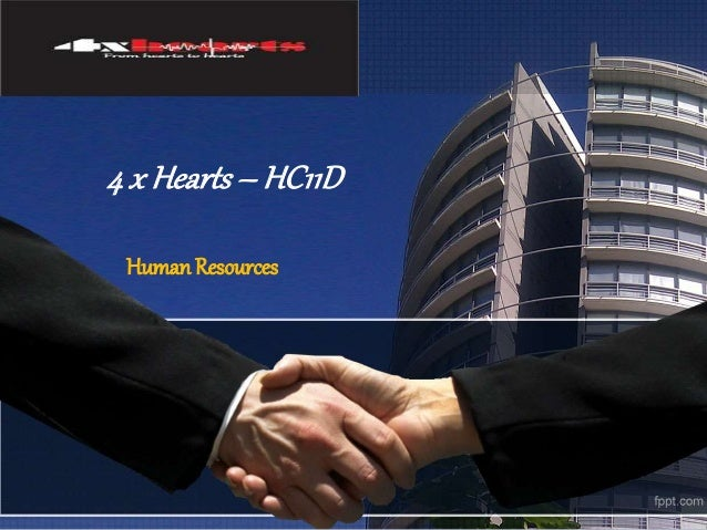 4 x Hearts – HC11D  Human Resources