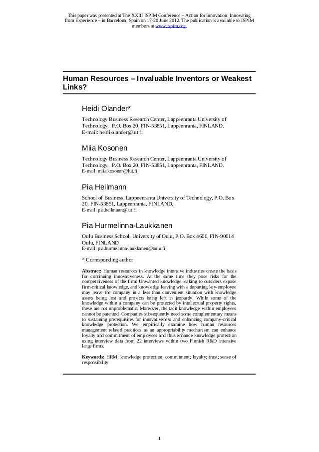 This paper was presented at The XXIII ISPIM Conference – Action for Innovation: Innovating from Experience – in Barcelona,...