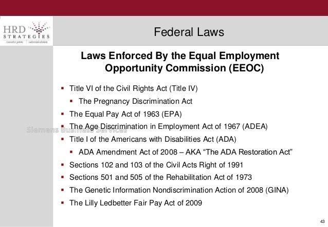 an overview of the eeocs process of the promotion of equal opportunity in employment In implementing the requirements of equal employment opportunity commission's (eeoc) equal employment opportunity management directive 715, the department of homeland security's headquarters office of equal employment opportunity strives to ensure that all employees and applicants for employment enjoy equality of opportunity and employment.