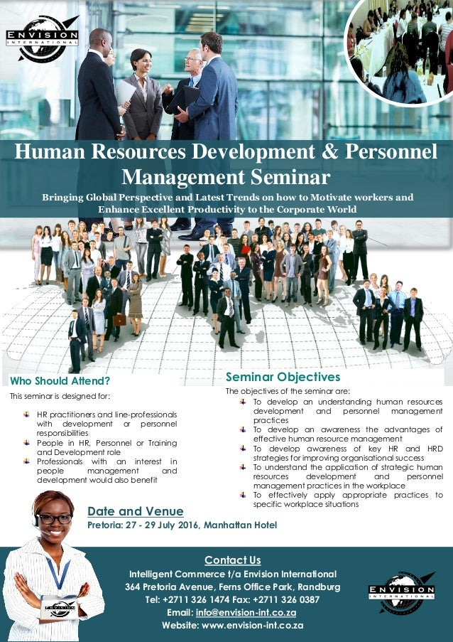 human resource management dept brochure Human resources managers provide the specialised services needed by other management team members to make the most effective use of the human resources within an organisation they plan and execute policies that relate to all phases of personnel activity.