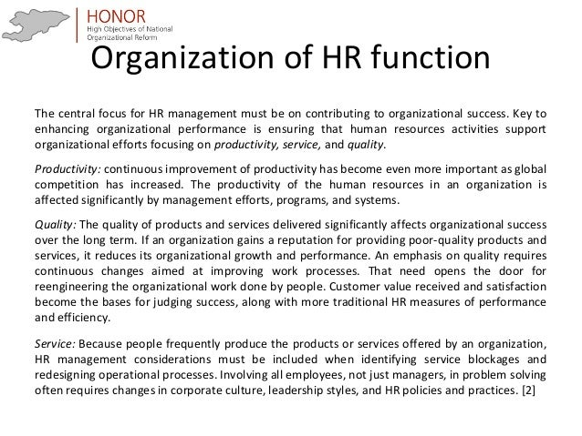 The significant role of the human resources department at varian medical systems