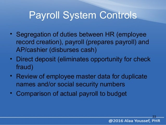 hrm  u0026 payroll process by alaa youssef