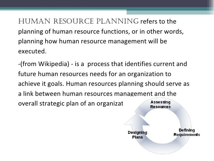 human resource planning recruitment Chapter 5 of human resource management: gaining a competitive advantage.