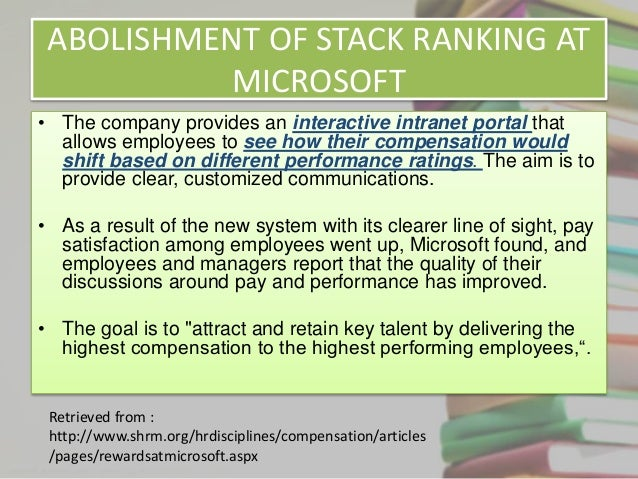 microsoft performance review