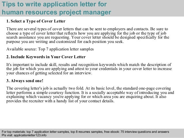 ... 3. Tips To Write Application Letter For Human Resources ...