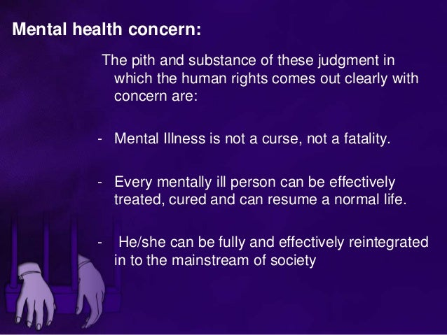 human right in mentally ill prson