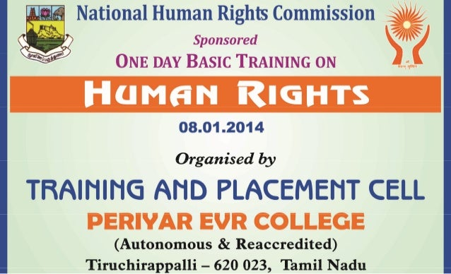 periyar evr college - Human rights