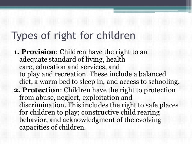 human rights and children Children's rights are human rights for children the 1989 convention on the  rights of the child is a treaty that recognizes specific rights for children human.