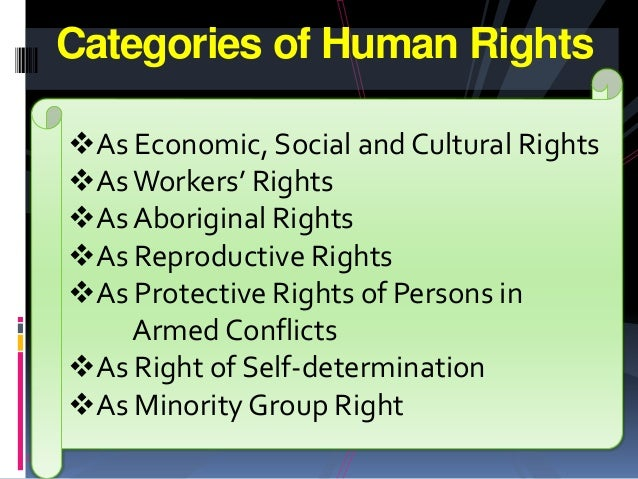 classification of human rights Classification of human rights 1 different criteria of human rights classification from the moment of birth until death, every person and citizen possess a full composite of interrelated and interdependent rights and freedoms that is why there is an inevitable wish to.