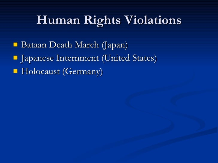 human rights abuses wwii